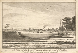 A View of the River Thames from Chelsea, 1750
